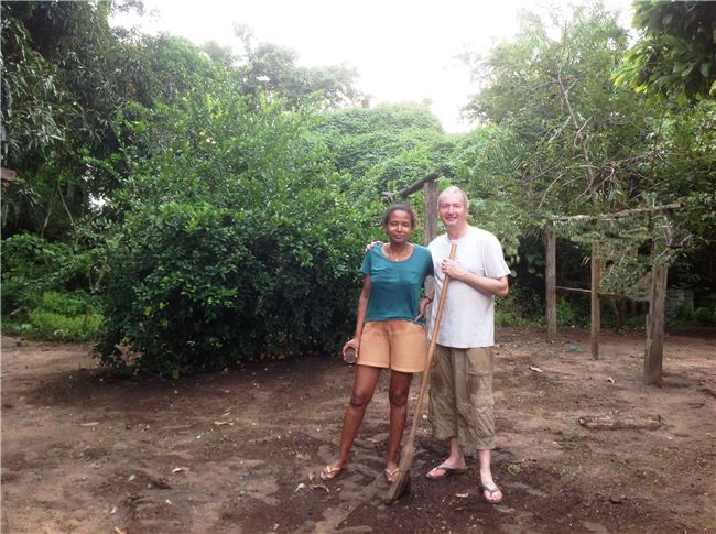 Ana and Charlie at home in the Amazon