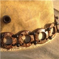 Coconut & wooden bead Hat bands