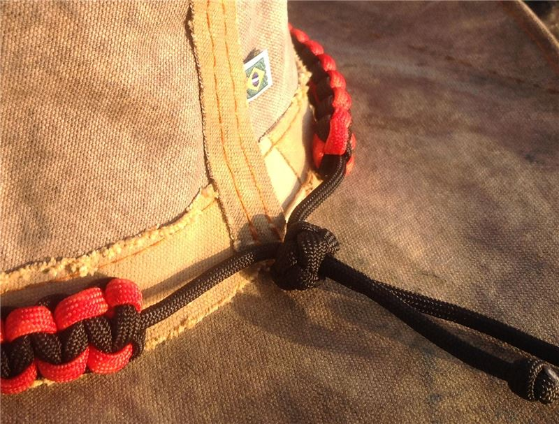 Paracord Hat Band From Amazonas Tarp Hat In Red Amp Black