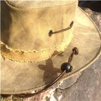 Woven leather strap for hat