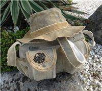 Floppy tarp Hat & Shoulder Bag