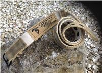 Canvas belts made from recycled truck tarpaulins