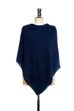 Navy Poncho Soft and warm